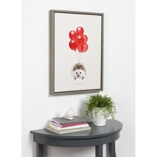 Link to DesignOvation Sylvie Hedgehog Balloons Framed Canvas By Amy Peterson Similar Items in Canvas Art