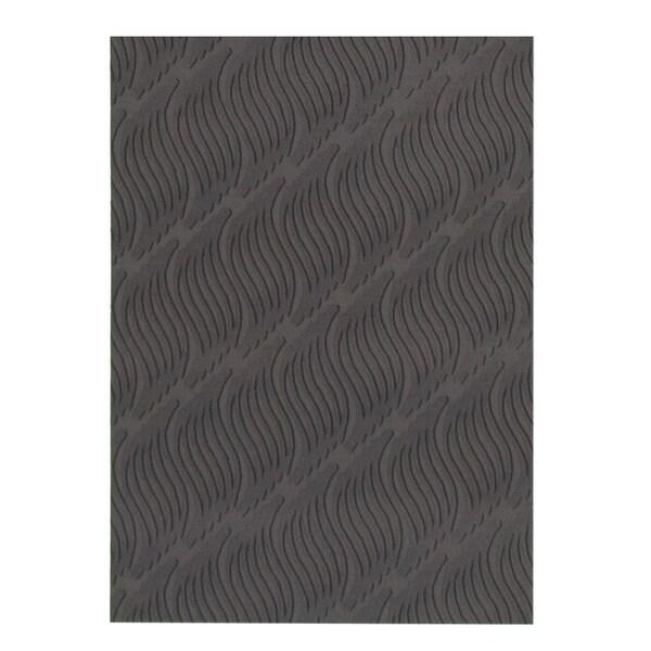 eCarpetGallery Machine Woven Bellisima Black Polyester Rug - 2'2 x 4'0