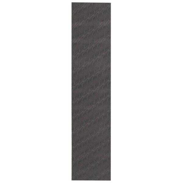 eCarpetGallery Machine Woven Bellisima Black Polyester Rug - 2'2 x 12'0