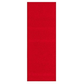 eCarpetGallery  Machine Woven Bellisima Red Polyester Rug - 2'2 x 6'0