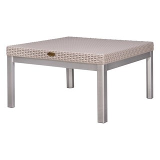 Russ Rattan Coffee Table with Aluminum Legs