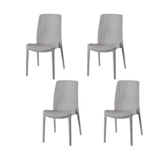 Set of Four Rue Stackable Rattan Dinning Chairs