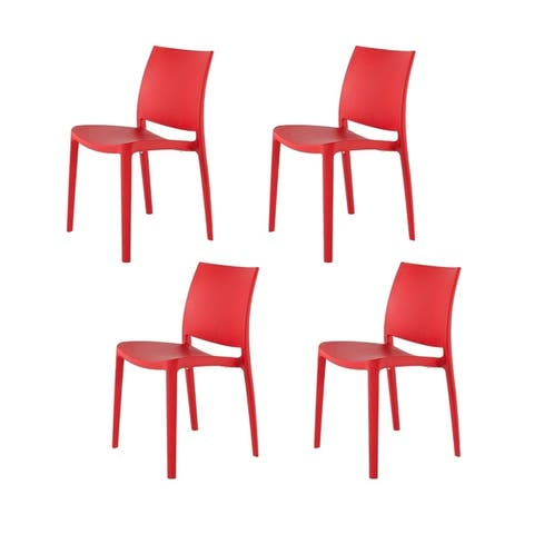 Set of Four Sensilla Stackable Dinning Chairs