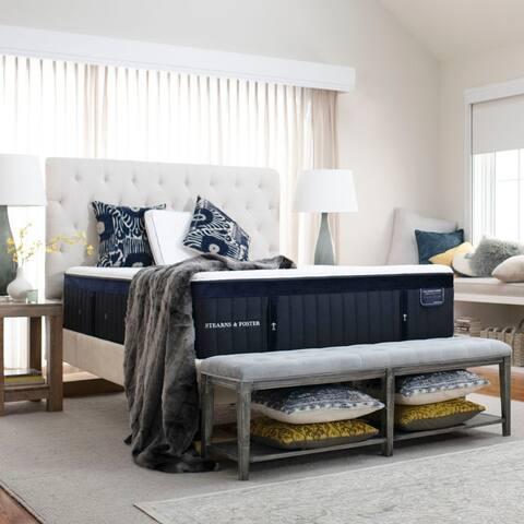 Stearns & Foster Lux Estate 15-inch Cushion Firm Hybrid Mattress Set