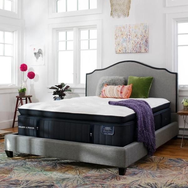 Stearns & Foster Lux Estate 15-inch Firm Euro Pillowtop Mattress Set. Opens flyout.