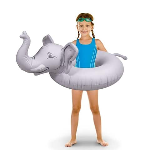 GoFloats 'Trunks The Elephant' Jr Pool Float Party Tube, Stylish Floating for Kids