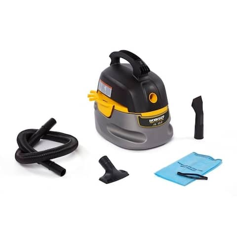 WORKSHOP Wet/Dry Vacs WS0255VA Small, Portable 2.5-Gallon, 1.75 Peak HP Wet Dry Vacuum Cleaner