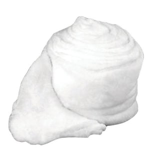 Buffalo  Fluff  Snow Roll  White  Synthetic  1 pc.