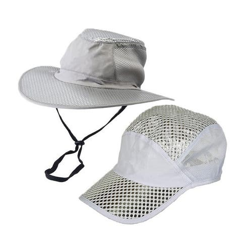 2pc Polar Hydro Evaporative Cooling Hat UV Reflective Protection Bucket Solar Cap