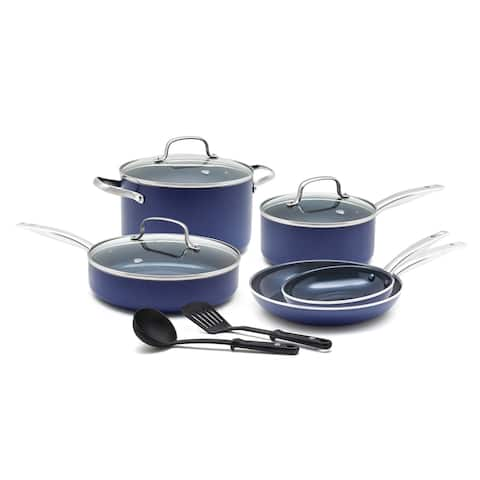Blue Diamond Toxin-Free 10 Piece Ceramic Non Stick Cookware Set