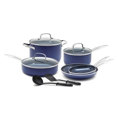 Blue Diamond Toxin-Free 10 Piece Ceramic Non Stick Cookware Set