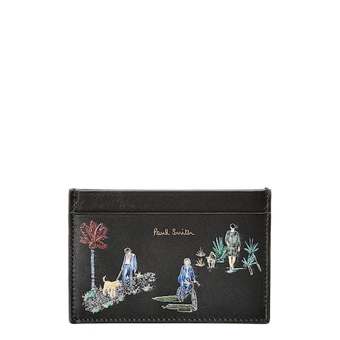 Paul Smith London Parks Leather Card Holder - NoSize