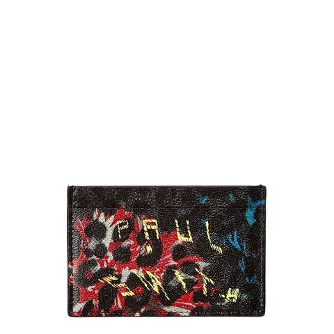 Paul Smith Leopard Mix Leather Card Holder - NoSize