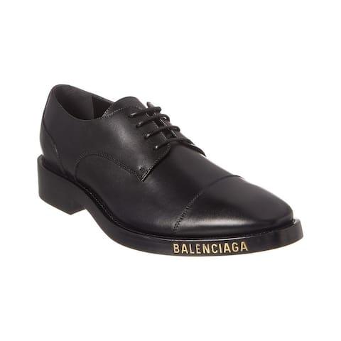 Balenciaga Leather Derby Shoe