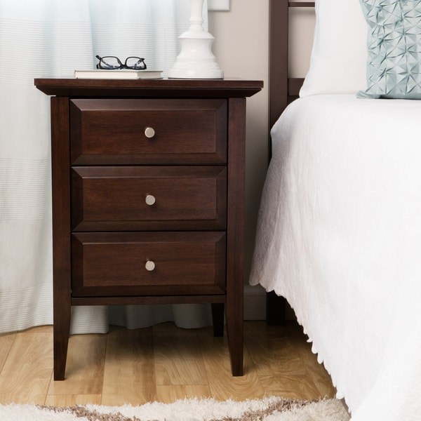 Coventry 3 drawer nightstand free shipping today for Extra tall nightstands