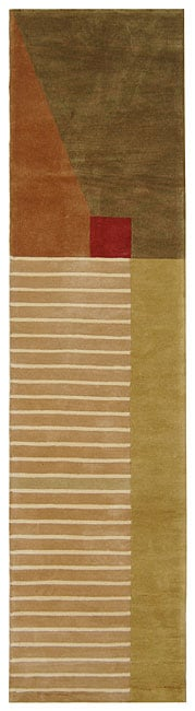 Safavieh Handmade Rodeo Drive Modern Abstract Multicolored Wool Runner Rug (2'6 x 10')
