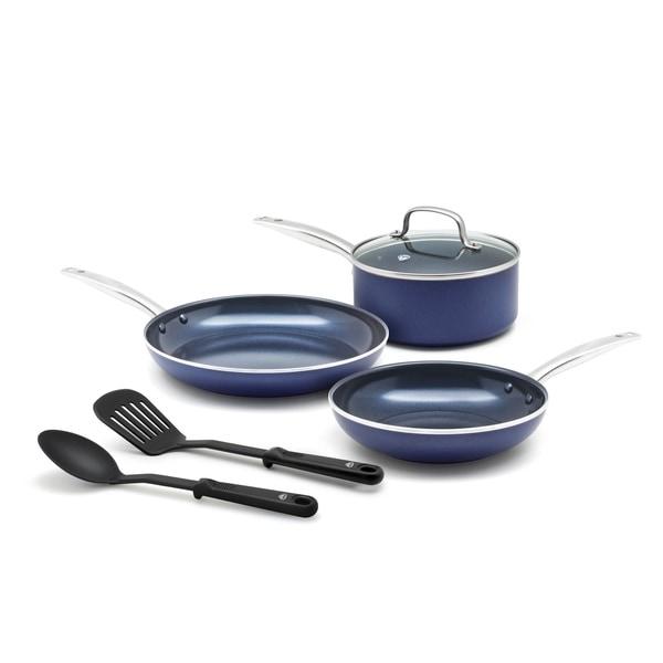 Blue Diamond 6 Piece Ceramic Non Stick Cookware Set. Opens flyout.