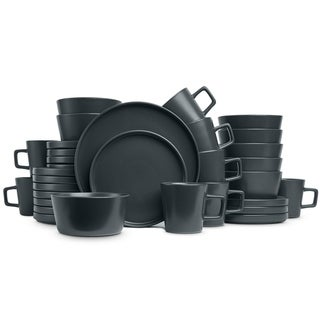 Link to Stone Lain 32-piece Grey Stoneware Dinnerware Set (Service for 8) Similar Items in Dinnerware