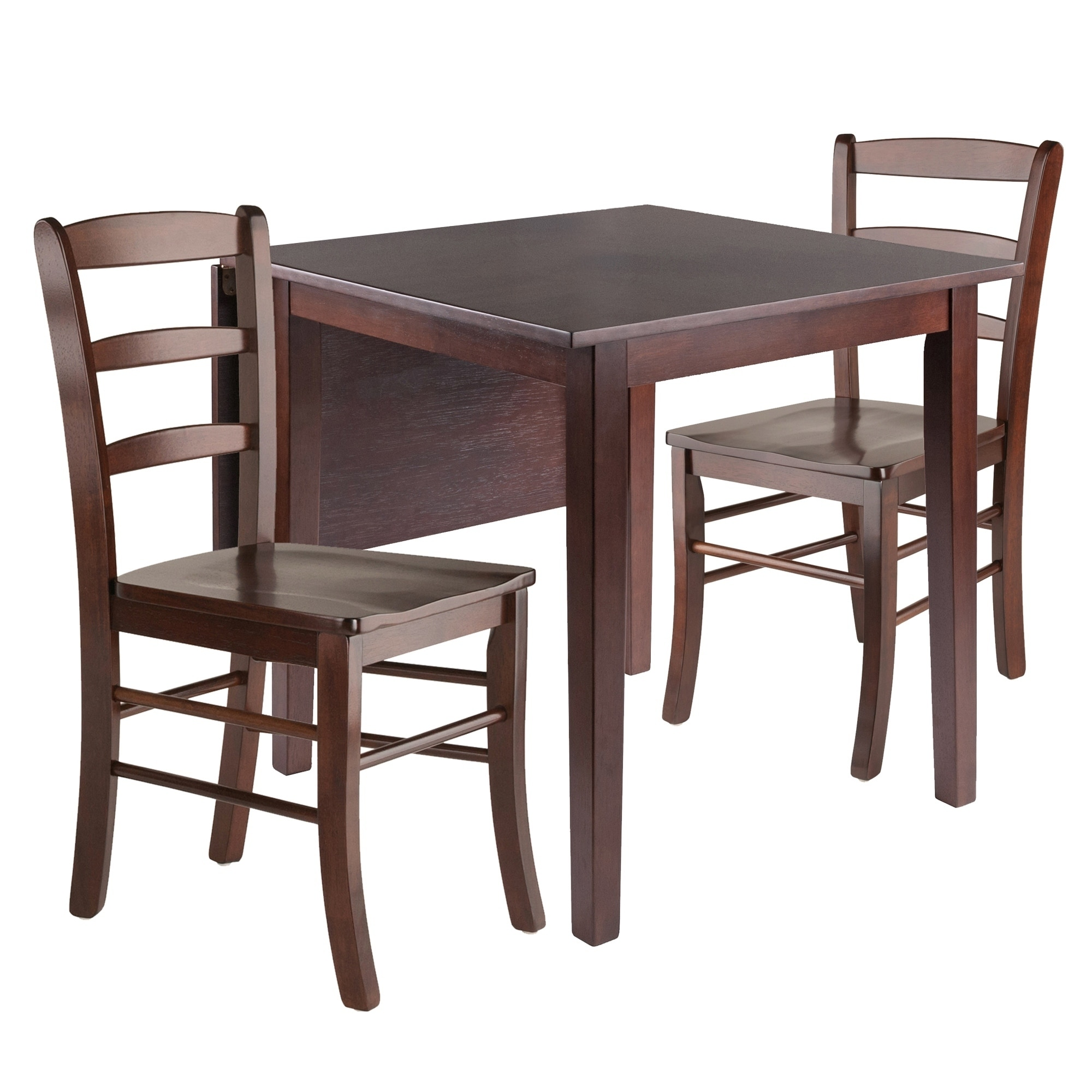 Image of: Shop Black Friday Deals On Perrone 3pc Drop Leaf Dining Table Set With Ladder Back Chair Overstock 29338126