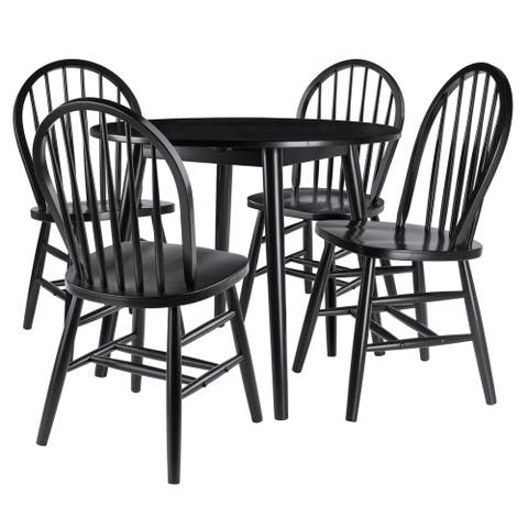Copper Grove Zinjibar 5-piece Set with Drop-leaf Table and Chairs