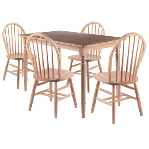 Copper Grove Xalqobod 5-piece Dining Table with Windsor Chairs