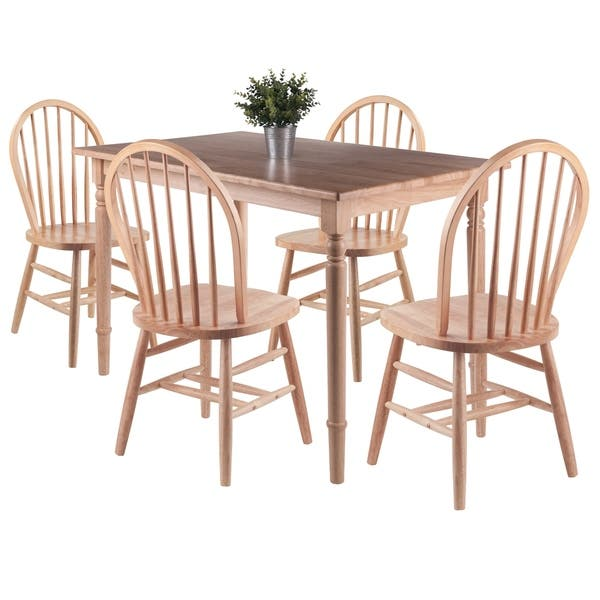 Copper Grove Xalqobod 5 Piece Dining Table With Windsor Chairs Overstock 29338139