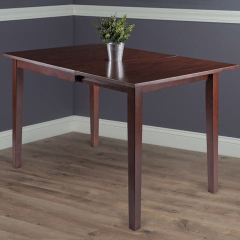 Copper Grove Petronella Walnut Brown Dining Table with Dropleaf Extension - N/A