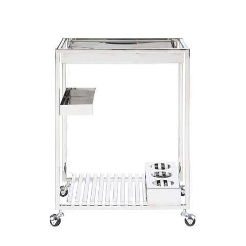 Somette Contemporary All Metal Tea Cart