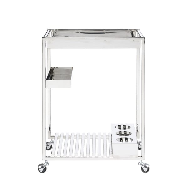 Somette Contemporary All Metal Tea Cart - N/A
