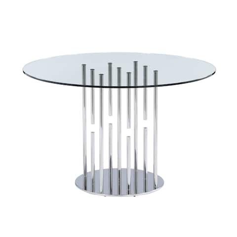 Somette 8511 Round glass dining table