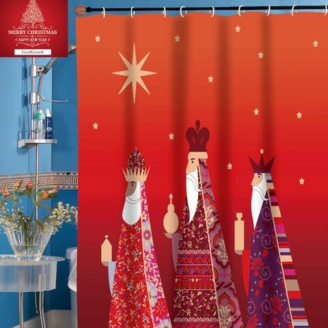 """Polyester Shower Curtain 3 Kings 70"""" x 72"""""""