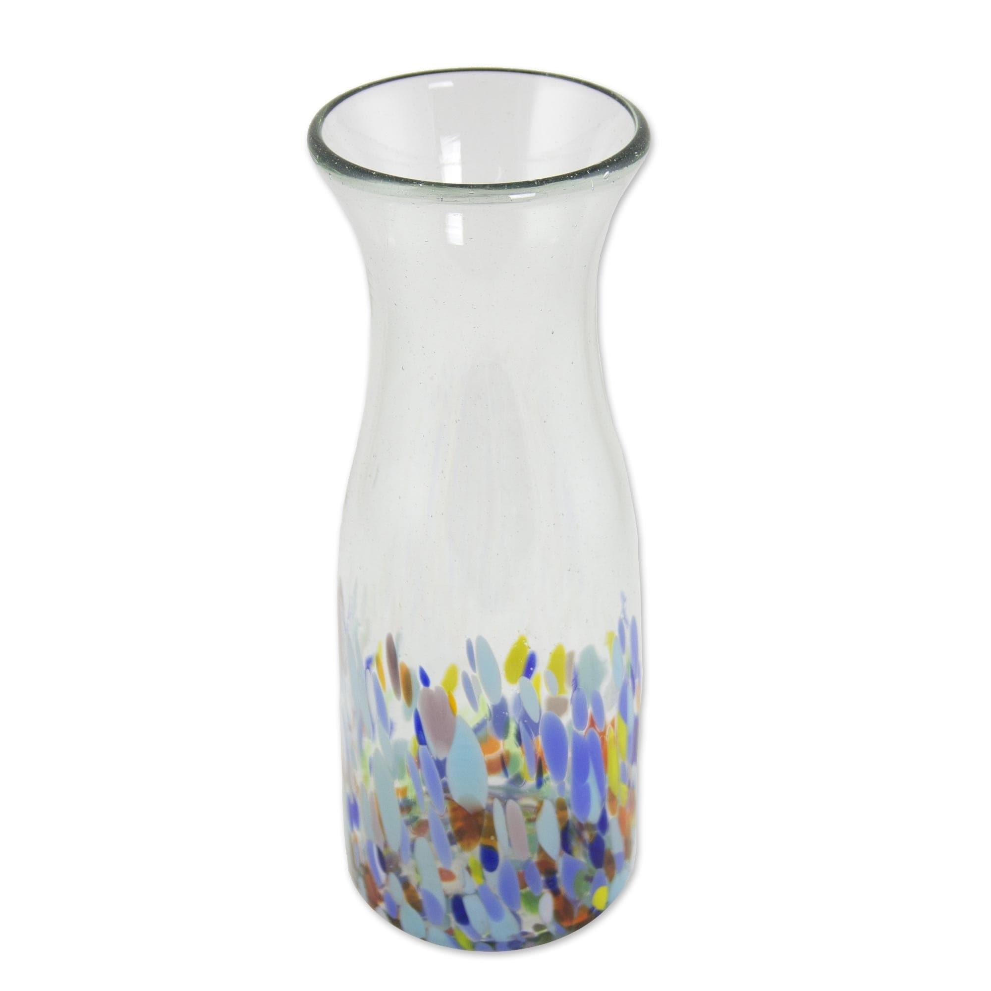 Handmade Confetti Festival Blown Glass Carafe Mexico Overstock 29340603