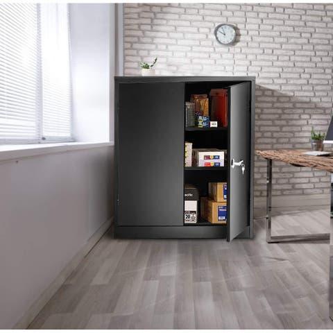 Porch & Den Provence Metal 3-shelf Storage Cabinet