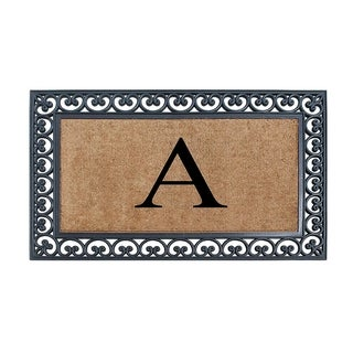 """Link to A1HC Rubber and Coir X Large Monogrammed Double Doormat, 30""""X48"""" Similar Items in Decorative Accessories"""