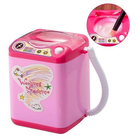 Mini Electric Toy Washing Machine Brush Cleaner, Pink