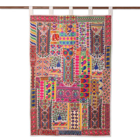 Handmade Rajasthan Delight Recycled Cotton Blend Wall Hanging (India)