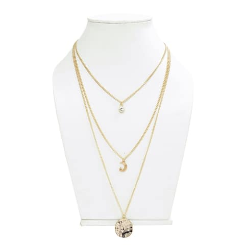 Long Round Chain Necklace for Women - 15.5