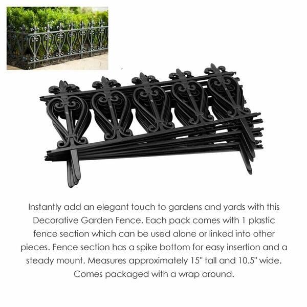 Shop Plastic Decorative Garden Fence Landscape Edging Border