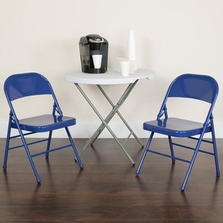 2PK Triple Braced & Double Hinged Metal Folding Chair - Event Chair