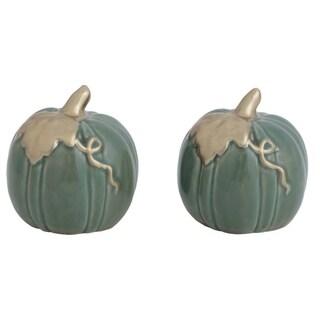 Link to Transpac Ceramic Green Harvest Heirloom Pumpkins Salt and Pepper Set of 2 Similar Items in Serveware