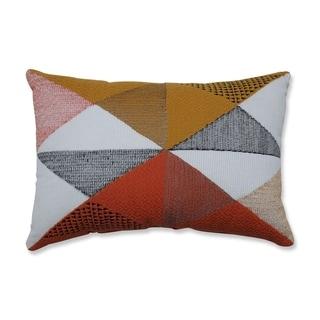 Pillow Perfect Triangular Diamond Orange/Gold 11.5x17.5-inch Rectangular Throw Pillow