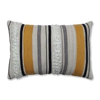 Pillow Perfect Sullivan Lines Natural Gold 11.5x17.5-inch Rectangular Throw Pillow