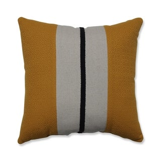 Carson Carrington Saltarna Stripe Natural Gold 18-inch Throw Pillow
