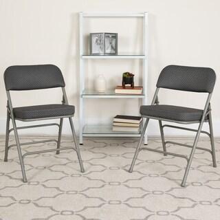 "2PK 18""W Premium Triple Braced & Double Hinged Metal Folding Chair"