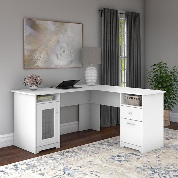 Copper Grove Enspijk L-shaped Computer Desk