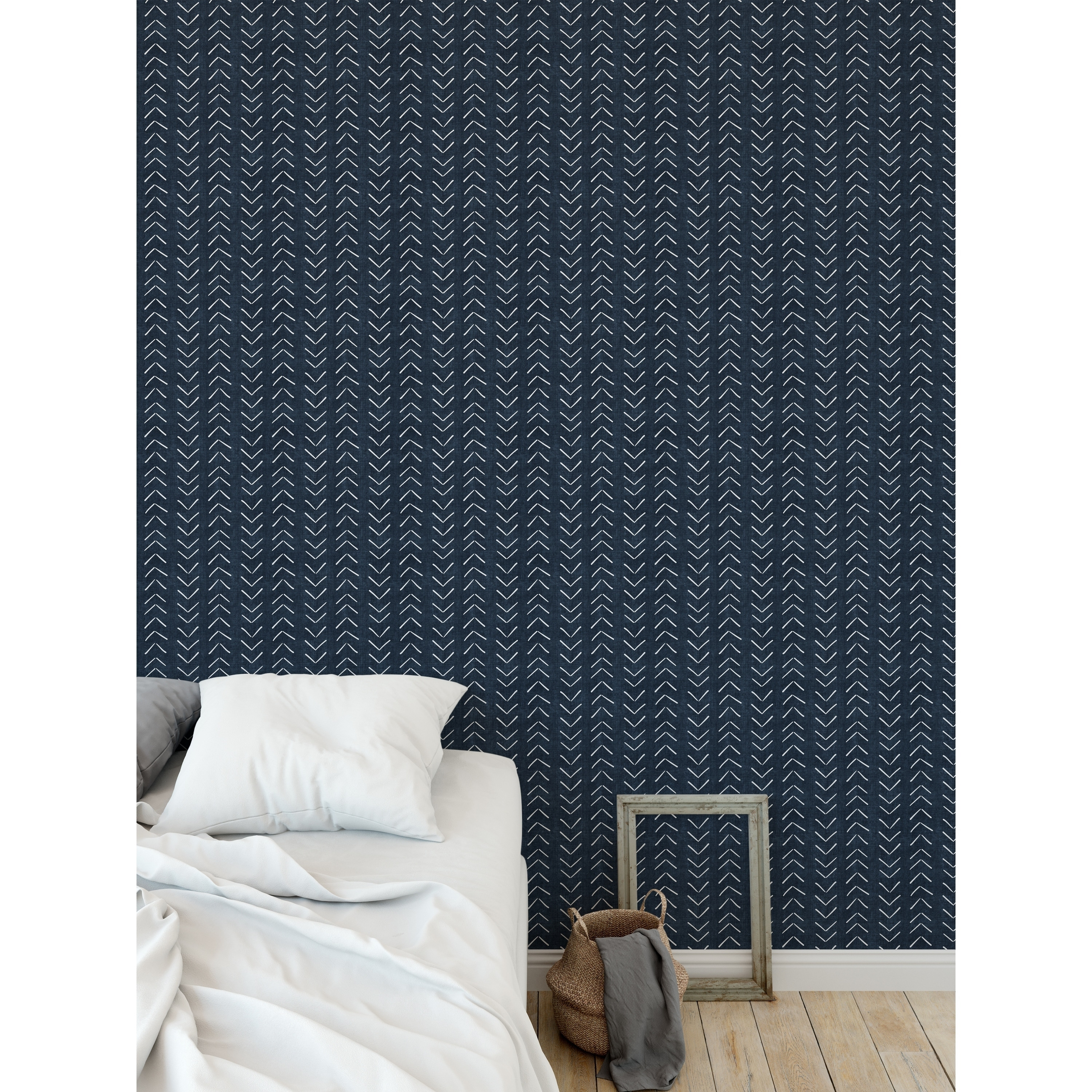 Shop Elle Decor Mudcloth Big Arrows Navy Peel And Stick Wallpaper By Kavka Designs Overstock 29342601