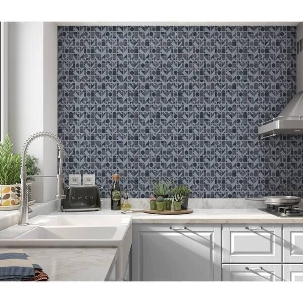 Shop Elle Decor Moderne Dark Blue Peel And Stick Wallpaper By Kavka Designs Overstock 29342639