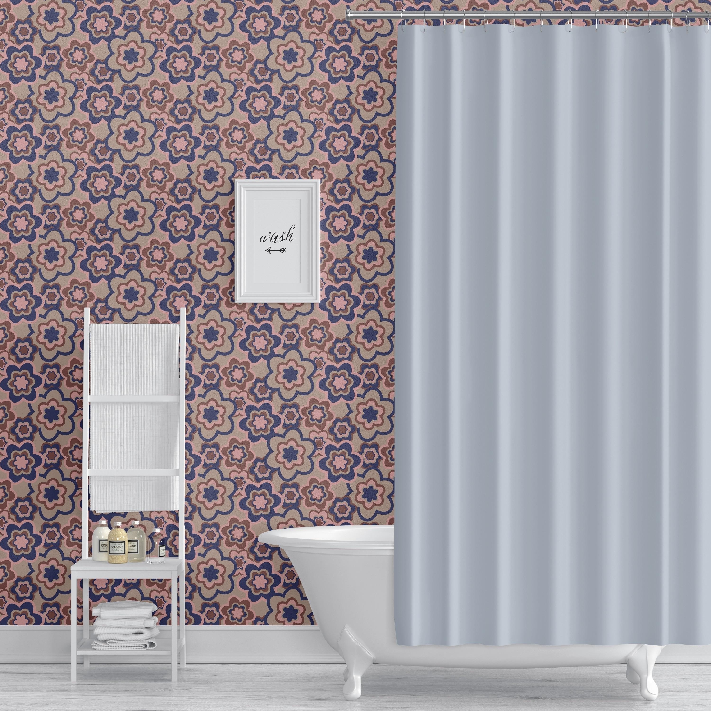 Shop Elle Decor Floral Burst Blue Peel And Stick Wallpaper By