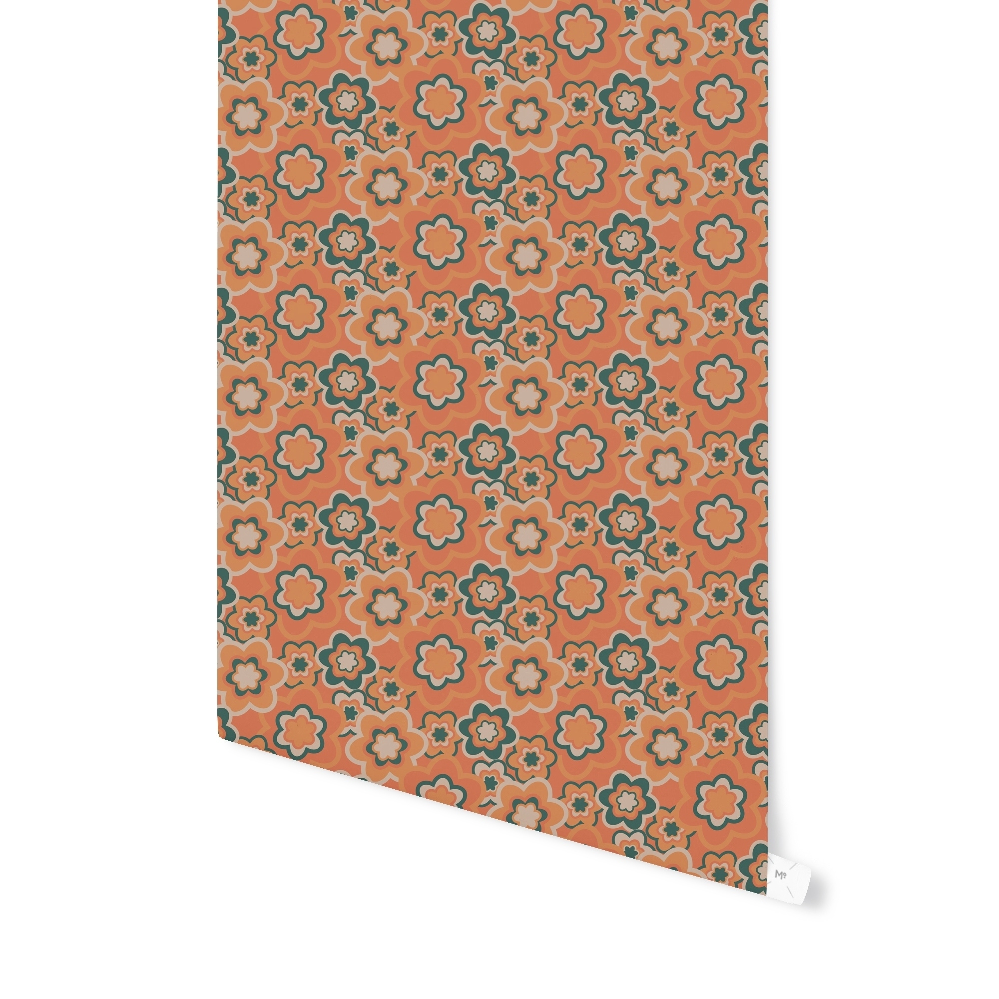 Shop Elle Decor Floral Burst Orange Peel And Stick Wallpaper By