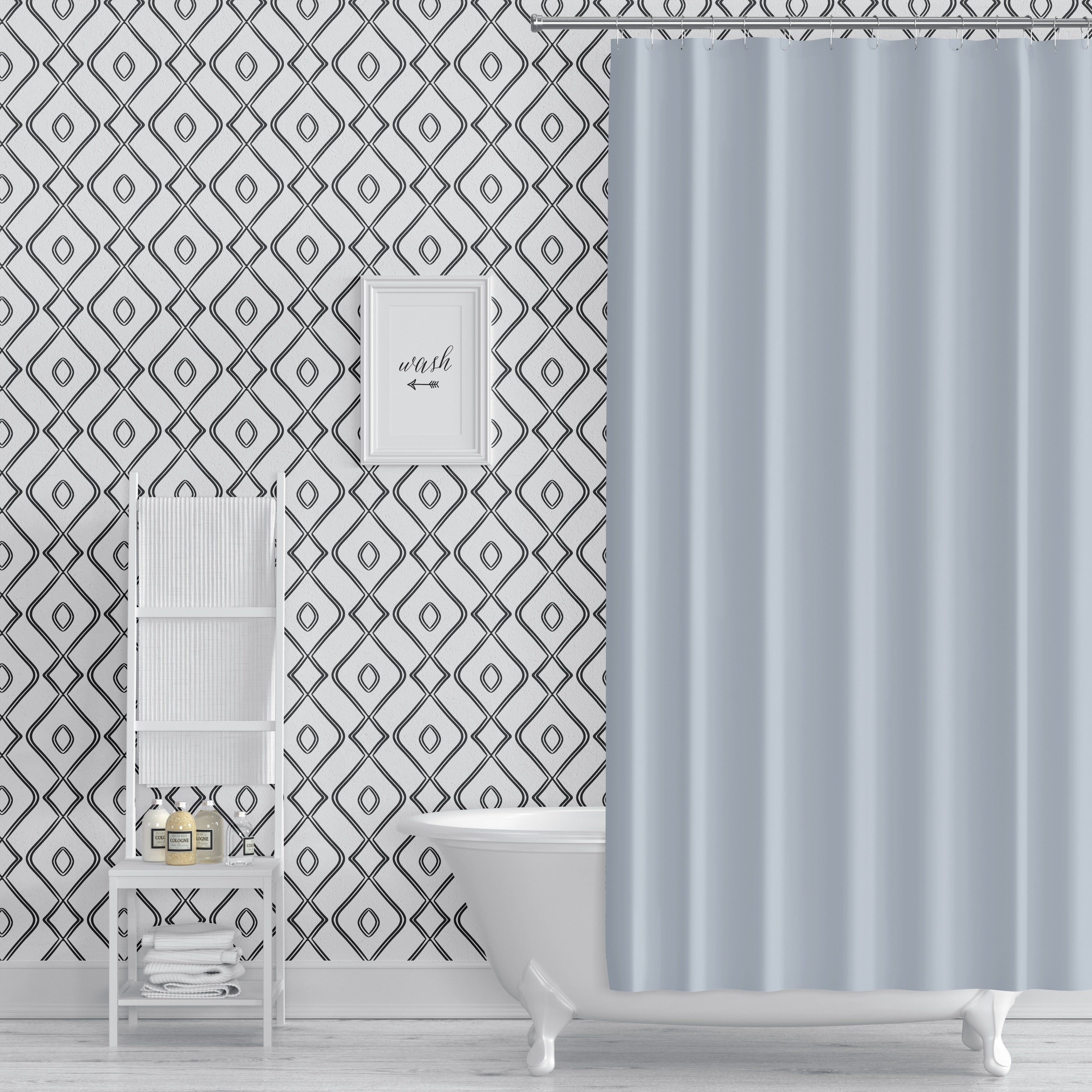 Shop Modern Ogee Black And White Peel And Stick Wallpaper By Kavka Designs Overstock 29342722